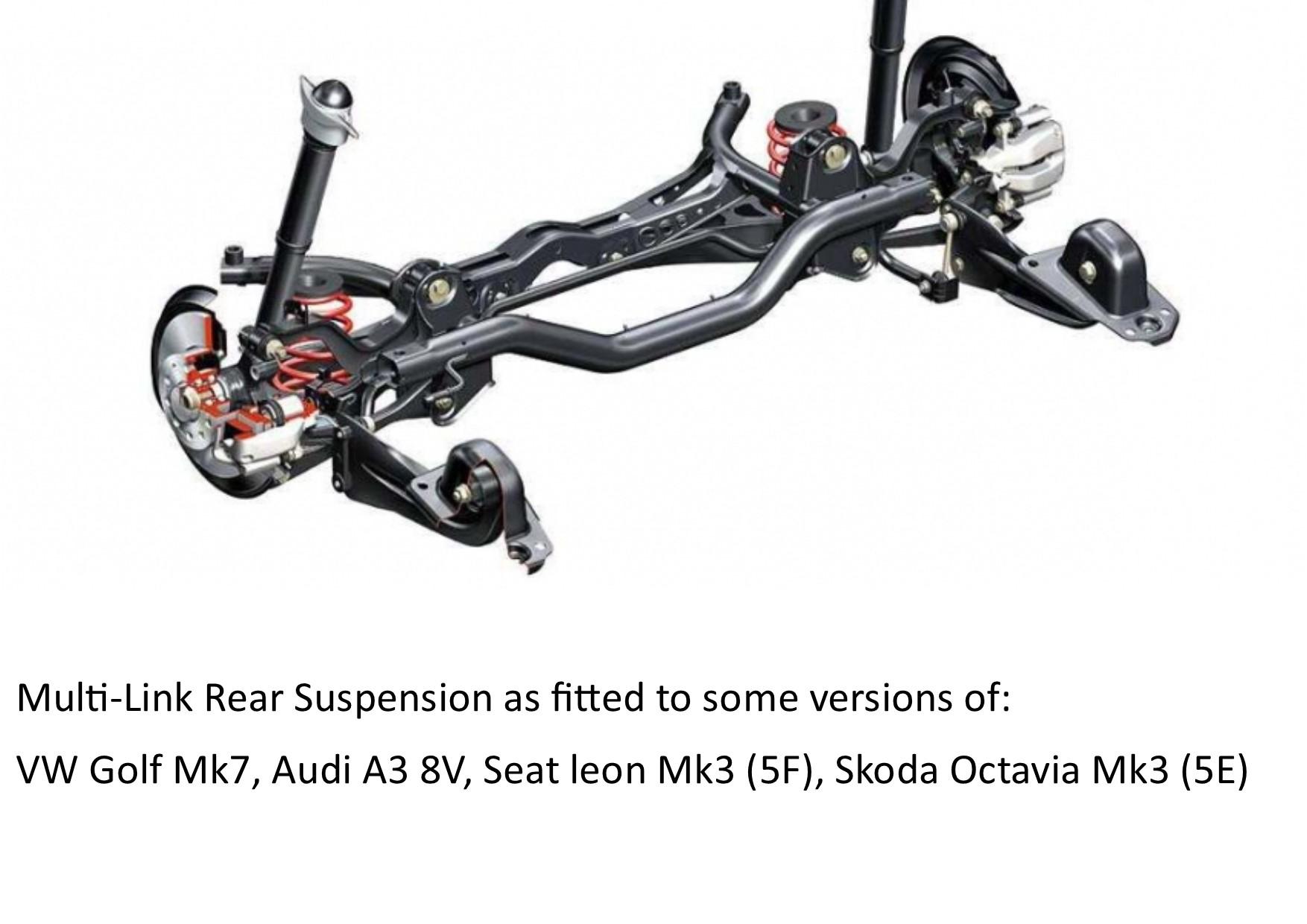 Prosport DZT-Line Coilover Lowering Kit Seat Leon Mk3 5F Sportback BEAM rear